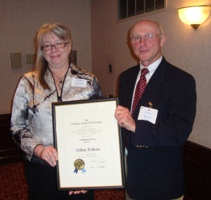 Hillebrand Prize winner, Debra Rolison and President Elect Doug Raber